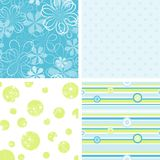 Scrapbook patterns for design. Illustration Stock Photography