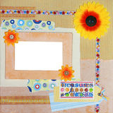 Scrapbook photo frame Stock Photos
