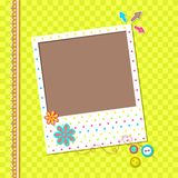Scrapbook Photo Frame Stock Photo