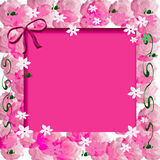 Scrapbook photo frame Royalty Free Stock Photography