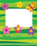 Scrapbook photo frame or card Royalty Free Stock Photo