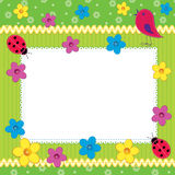 Scrapbook photo frame or card Stock Photo