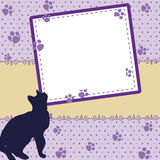 Scrapbook picture frame Royalty Free Stock Images