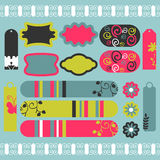 Scrapbook pretty elements Stock Photography