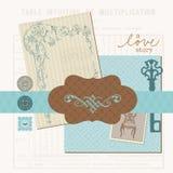 Scrapbook projekta elementy - Rocznika Miłości Set Obraz Royalty Free