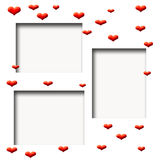 scrapbook ramowy valentine Zdjęcie Stock