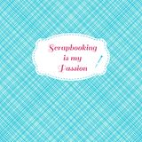 Scrapbook seamless pattern with frame Royalty Free Stock Photo