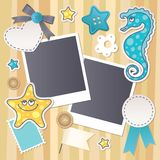scrapbook set Obrazy Royalty Free