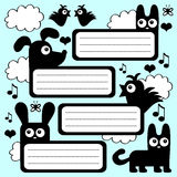 Scrapbook set with animals Stock Images