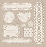 Scrapbook set with different elements - scrapbook Royalty Free Stock Photography
