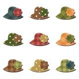 Scrapbook set with hats Stock Photos