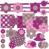 Scrapbook set of objects on white Stock Images
