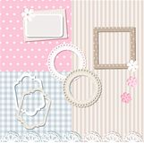 Scrapbook set Stock Image