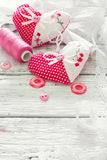 Scrapbook set for Valentines Day Royalty Free Stock Photos