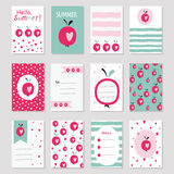 Scrapbook sof greeting cards Stock Images
