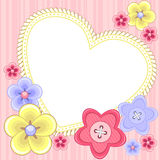 Scrapbook styled card with heart Royalty Free Stock Photography