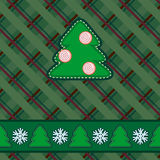 Scrapbook styled green Christmas card Stock Image