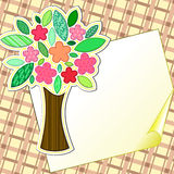 Scrapbook styled tree Stock Photo