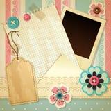 scrapbook szablon Zdjęcie Royalty Free