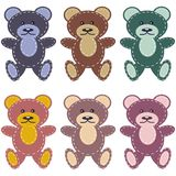 Scrapbook teddy bears on white background Stock Photography
