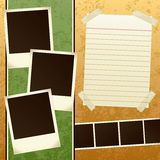 Scrapbook Template Stock Photo