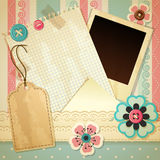Scrapbook template Royalty Free Stock Photo