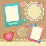 Scrapbook template Royalty Free Stock Photos