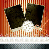 Scrapbook template design Royalty Free Stock Image