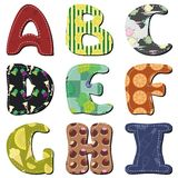 Scrapbook textile alphabet Royalty Free Stock Images