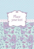 Scrapbook vintage background. Scrapbook decorative vintage background with paisley Royalty Free Stock Image