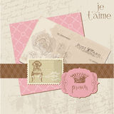Scrapbook Vintage design elements Royalty Free Stock Image