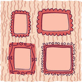 Scrapbook vintage frames for girl Stock Photography