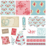 Scrapbook Vintage Wedding Collection Royalty Free Stock Photos