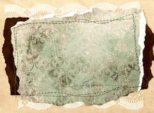 Scrapbookdesignbeståndsdelar - tappning Royaltyfri Foto