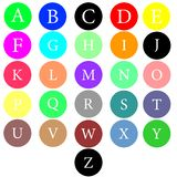scrapbooking向量的字母表要素 拉长的现有量信函 字母表写与刷子 库存例证