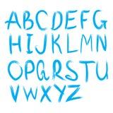 scrapbooking向量的字母表要素 拉长的现有量信函 字母表写与刷子 免版税库存照片