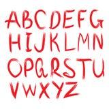 scrapbooking向量的字母表要素 拉长的现有量信函 图库摄影