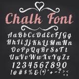 scrapbooking向量的字母表要素 在黑板的白垩字体 库存照片