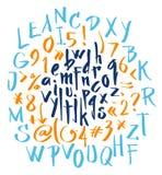 scrapbooking向量的字母表要素 拉长的现有量信函 库存例证