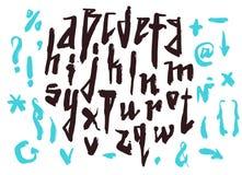 scrapbooking向量的字母表要素 拉长的现有量信函 向量例证