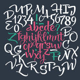 scrapbooking向量的字母表要素 免版税库存图片