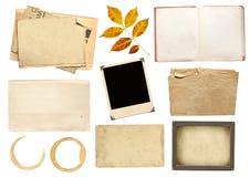 scrapbooking收集的要素 免版税库存图片