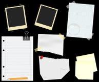 scrapbooking的文教用品向量 免版税库存图片