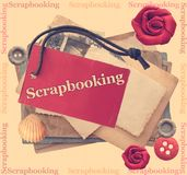 Scrapbooking. And crafts activities illustration stock illustration