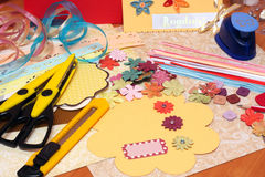 Scrapbooking stock image