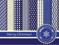 蓝色圣诞节奶油色scrapbooking 图库摄影