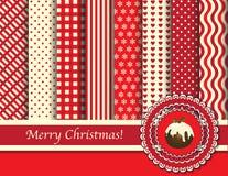 圣诞节奶油色红色scrapbooking 免版税图库摄影