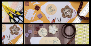Scrapbooking royalty free illustration