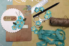 Scrapbooking Stockfoto