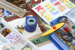 Scrapbooking Stockfotos